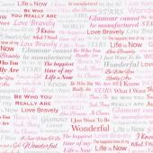 Marilyn Monroe by The Estate of Marilyn Monroe - Words Sweet Digitally Printed Yardage