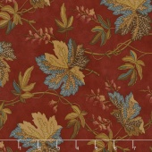 Sycamore - Fall Leaves Berry Red Yardage