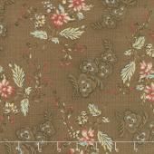 Susanna's Scraps - Ma's Fancy Dress Chocolate Yardage