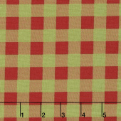 Overnight Delivery - Buffalo Plaid Red Green Yardage