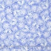 Daisy Blue - Graceful Garden Blue Sky Yardage