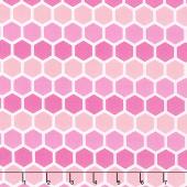 Confetti - Honeycomb Pink Yardage