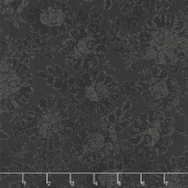 Shiny Objects - Precious Metals Lustrous Lace Radiant Black with Black Glitter Yardage