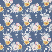 Blooms and Bobbins - Main Blue Yardage