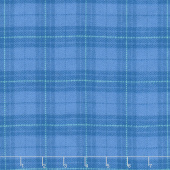 Primo Plaids - Blue Plaid Yarn Dyed Flannel Yardage