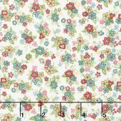 Katie Jane - Multi Floral Vanilla Yardage