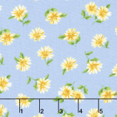 Summer Breeze V - Daisies Light Blue Yardage