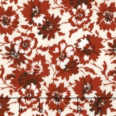 Faded Memories - Faded Petals Red Yardage