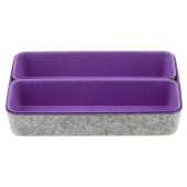 Felt Desk Organizer - Purple