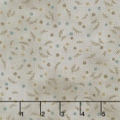 Shadows and Sunshine - Zig Zag Calico Taupe Yardage