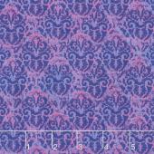 Blossom & Bloom - Nouveau Damask Purple Yardage