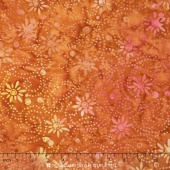 Tonga Batiks - Autumn Daisy Chain Copper Yardage