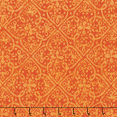 Paradise - Embossed Tonal Orange Yardage