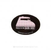 Press to the Dark Side Oval Magnet