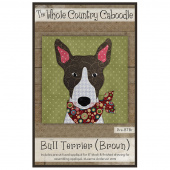 Bull Terrier Brown Precut Fused Appliqué Pack
