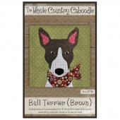 Bull Terrier Brown Precut Fused Appliqué Pack