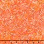 Tiki Batiks - Floral Paisley Coral Yardage