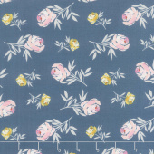 Blooms and Bobbins - Rose Blue Yardage