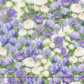 Plumage - Packed Floral Ivory/Purple Yardage
