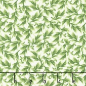 Wild Orchid - Leaves Cream Yardage