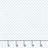 Swiss Dot - Swiss Dot Teal on White Yardage