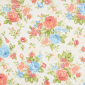 Cassandra - Flowers Cream Yardage