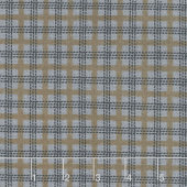 Farmhouse Flannels II - Country Check Steel Yardage