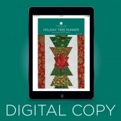 Digital Download - Holiday Tree Runner Quilt Pattern by Missouri Star