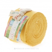 Bella Solids Buttercup Junior Jelly Roll by Moda