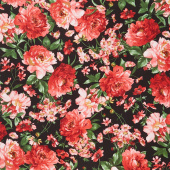 Prose - Mixed Floral Black Yardage