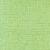 Autumn Love - Text Green Yardage