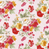 Farmhouse Floral - Main Pink Yardage