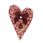 Sew Happy Heart Pin - Assorted Colors