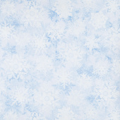 Pearl Frost - Snowflake Frost Powder Blue Pearlescent Yardage