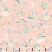Neverland - Neverland Lantern Pink Yardage