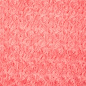 "Cuddle Embossed Rose - Coral 60"" Minky Yardage"