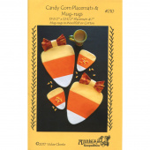 Candy Corn Place Mats & Mug Rug Pattern