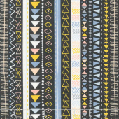 Wild & Free - Tribal Stripe Midnight Yardage