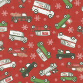 Designer Flannel - Christmas Main Red Yardage