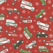 Designer Flannel - Christmas Main Red Yardage