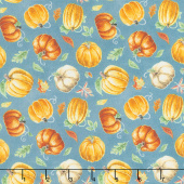 Rake and Bake - Mini Pumpkin Toss Teal Yardage