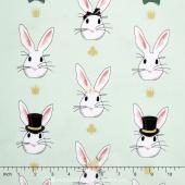 Wonderland 2 - Rabbit Main Mint Sparkle Yardage