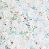 White Sands - Shells Turquoise Digitally Printed Yardage