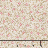 Berries and Blossoms - Flower Toss Cream Yardage