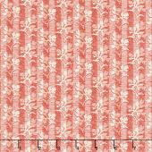 Walnut Creek - Floral Stripe Red Yardage