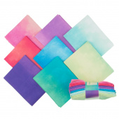 Wilmington Essentials - Ombre Washart Cool Fat Quarter Gems