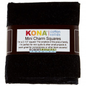 Kona Cotton -  Black Mini Charm Pack