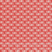 The Christmas Card - Noel Red Yardage