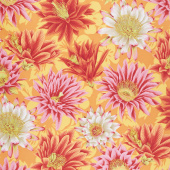 Kaffe Fassett Collective Spring 2019 - Bright Cactus Flower Orange Yardage