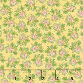 Bubbie's Buttons and Blooms - Petite Bouquet Dijon Yardage